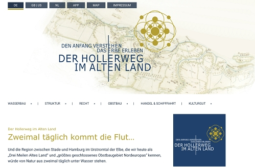 Hollerweg-Website © Gemeinde Jork